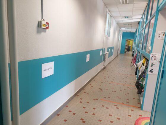 Réfection et protection des murs au rez-de-chaussée de l'école élémentaire
